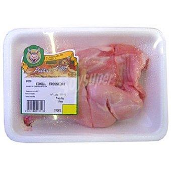 Palau Medio conejo troceado peso aproximado Bandeja 550 g