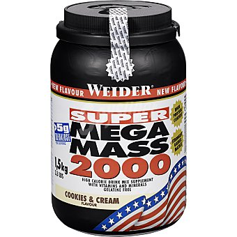 WEIDER Mega-Mass 2000 hidratos de carbono sabor cookies&cream Bote 15 kg