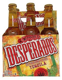 Desperados Cerveza con aroma de tequila  Pack 6 botellas x 33 cl