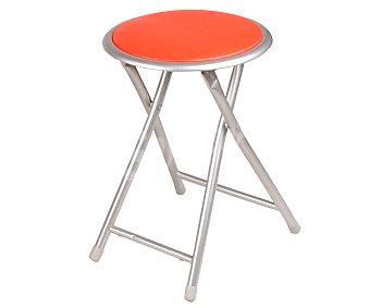 Productos Económicos Alcampo Taburete plegable color rojo, medidas: 30x30x44,5 centímetros y tubo de 19 milímetros 1 unidad