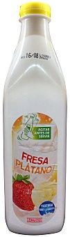 Hacendado Yogur líquido fresa platano Botella 1,5 kg