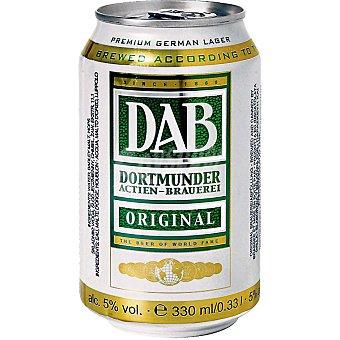 DAB Cerveza rubia original alemana Lata 33 cl