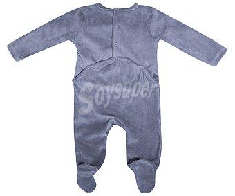 In Extenso Pijama pelele de bebe aterciopelado, color gris, talla 62