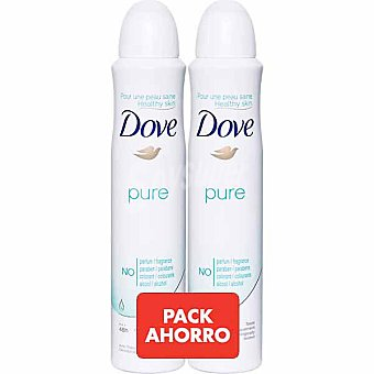 Dove desodorante pure sin alcohol pack 2 spray 200 ml