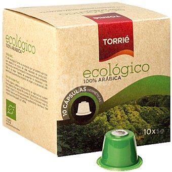 TORRIE Café ecológico 100% arábica ápsulas estuche 50 g 10 c