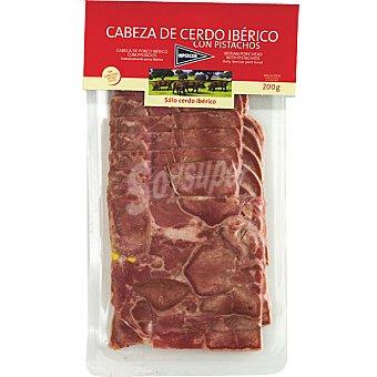 HIPERCOR cabeza de cerdo ibérico en lonchas envase 200 g