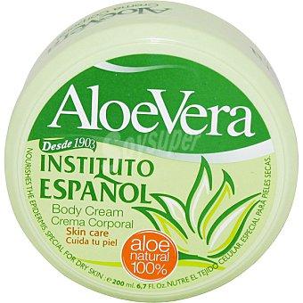 Instituto Español Crema corporal hidratante con aloe vera Tarro 200 ml