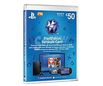 Sony Tarjeta de 50 Euros para Desacargar Juegos, Películas y cualquier otro Contenido de la Tienda Online de Playstation 1 Unidad