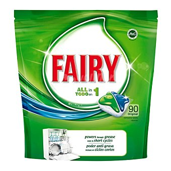 Fairy Lavavajillas máquina original todo en uno en pastillas 90 ud