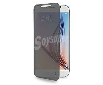 PURO Funda con tapa Sense, negra, para Samsung Galaxy S6, permite ver la pantalla y pulsarla sin necesidad de abrir la tapa