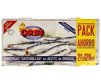 Orbe Sardinas en aceite vegetal Pack de 2 uds. de 78 g