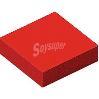 NV CORPORACION Servilletas Soft color rojo 38X38 cm Paquete 20 unidades