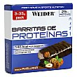 Barritas de proteínas sabor avellanas pack 3x35 g Weider