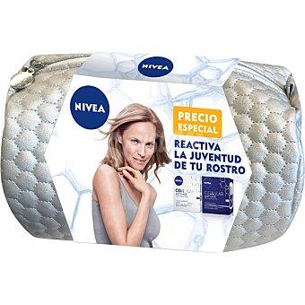 NIVEA Pack Celular Anti-Age con crema de día + crema de noche tarro 50 ml + neceser 2 tarros de 50 ml