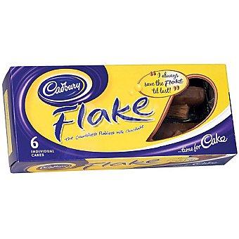 Cadbury Cakes con chocolate estuche 125 g 6 unidades