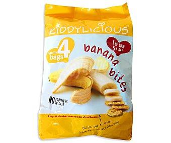 Kiddylicious Láminas de plátano crujiente especiales para niños Pack de 4x15 gramos