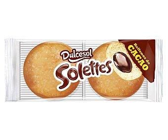 Dulcesol Berlinas rellenas de crema de cacao 200 gramos