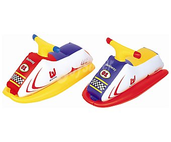 BESTWAY Moto acuática hinchable infantil con asas de sujección y recomendada para niños a partir de 3 años 1 unidad