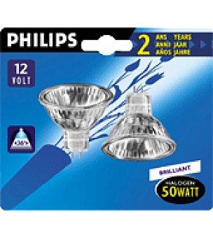 Philips 2 bombillas economicas dicroicas 50W