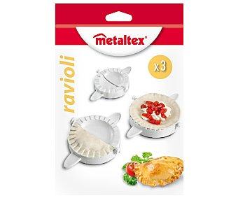 METALTEX Juego de 3 moldes de plástico especiales para empanadillas o raviolis 1 unidad