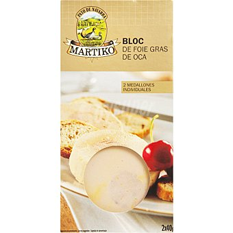 MARTIKO Duo bloc foie de oca  envase 80 g