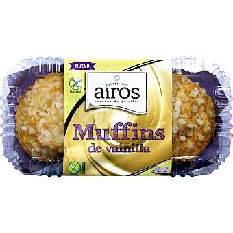 Airos Muffins de vainilla sin gluten blister 200 g 2 unidades