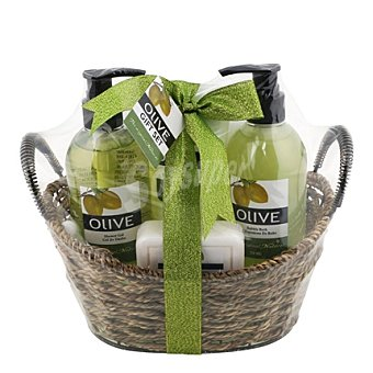 Bermudez Cesta mimbre fragancia oliva 1 ud