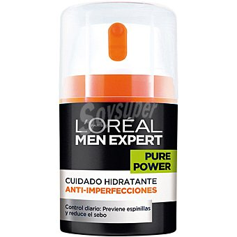 L'OREAL MEN EXPERT Pure Power Crema cuidado hidratante anti-imperfecciones dosificador 50 ml Dosificador 50 ml