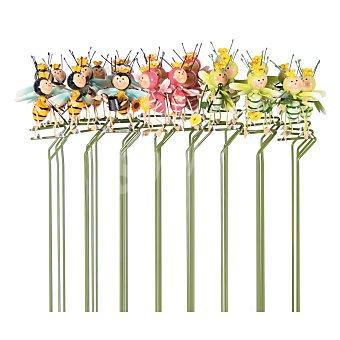 Profiline Pincho decorativo metálico de jardín con formas de mariposas, abejas o libélulas de 5.5x7.5x28 centímetros 1 unidad