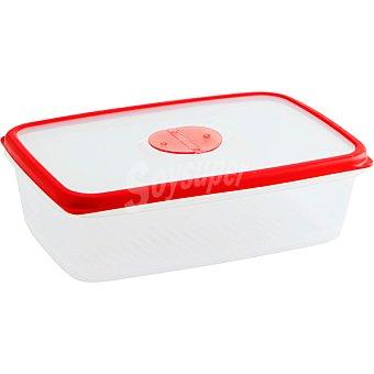 QUID Frigo-Box Hermético Rectangular transparente con filo rojo 2 l 1 unidad