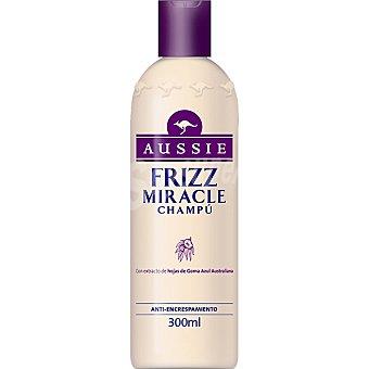 Aussie Champú Frizz Miracle con extracto de hojas de goma azul australiana anti-encrespamiento Frasco 300 ml