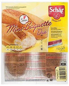 Schär Pan mini baguette precocido dietético sin gluten 2 unidades 150 gramos