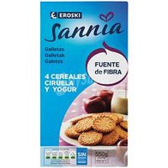 Eroski Sannia Galleta de yogur con ciruela Caja 550 g
