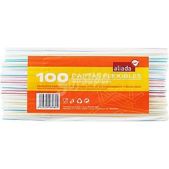 Aliada Pajitas flexibles Bolsa 100 unidades