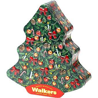 WALKERS Shortbread galletas de mantequilla mini arboles de Navidad  lata 225 g