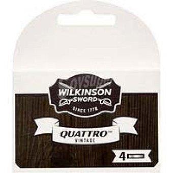 Wilkinson Cargador de afeitar wilkinson Quattro Vintage, pack 4 uds. Pack 4 uds