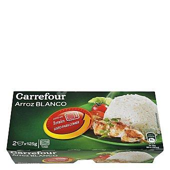 Carrefour Arroz blanco microondas Pack de 2x150 g