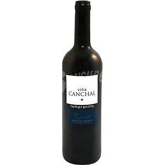Viña Canchal Vino tinto tempranillo D.O. Ribera del Guadiana botella 75 cl Botella 75 cl