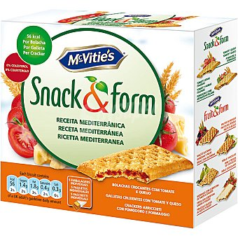 MCVITIE'S SNACK&FORM Galleta crujiente rellena de tomate y queso Estuche 205 g