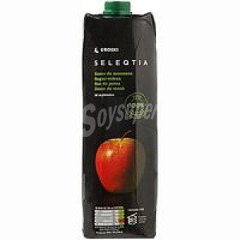 Eroski Seleqtia Zumo de manzana exprimido Eroski Brik 1 litro
