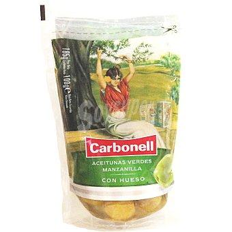 Carbonell Aceitunas verdes manzanilla con hueso Bolsa 100 g