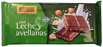 Hacendado Chocolate leche avellanas Tableta 150 g