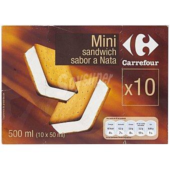 Carrefour Mini sandwich con nata 10 ud