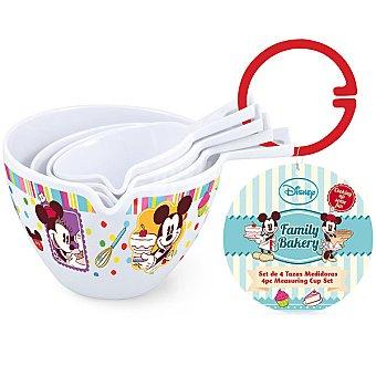 DISNEY Family Bakery Tazas medidoras de melamina Mickey set 4 unidades 4 unidades