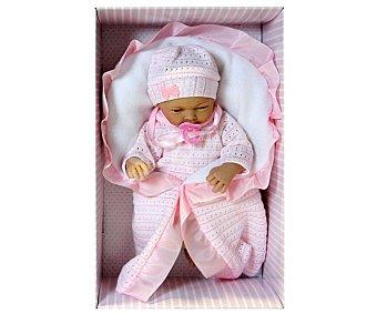 GUCA Muñeca Bebé Alba con Traje de Lana y Mantita Color Rosa 1 Unidad