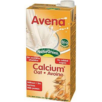 NATURGREEN Calcium Bebida de avena 100% vegetal sin lactosa Envase 1 l