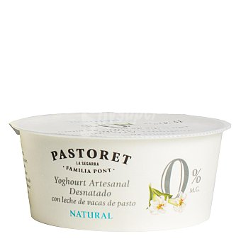 Pastoret Yogur desnatado artesano natural 0% M.G Tarrina 125 g