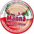 Paté de atún Lata 65 g neto escurrido Manna