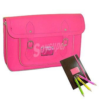 MINE Color me bolso bandolera con bolígrafo y agenda en color rosa +8 años