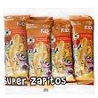 Aperitivo de maíz Carrefour Kids super zapitos Pack de 8 ud. de 6 g Carrefour Kids
